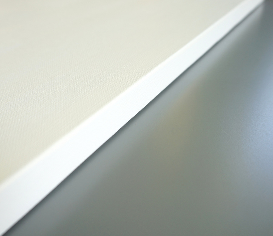 Canvas painted white