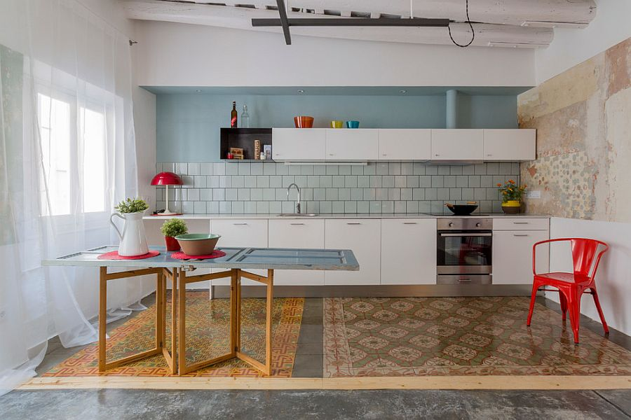 Creative kitchen island idea for the modern eclectic kitchen