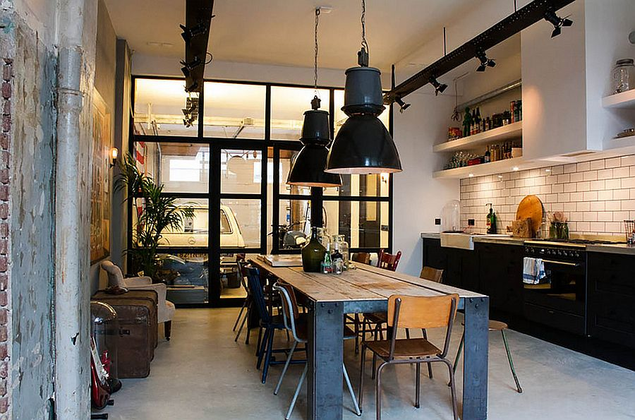 Eclectic kitchen with a strong industrial influence [Design: Bricks Amsterdam]