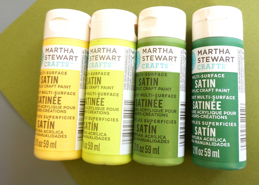 Select craft paint in the colors of your choice