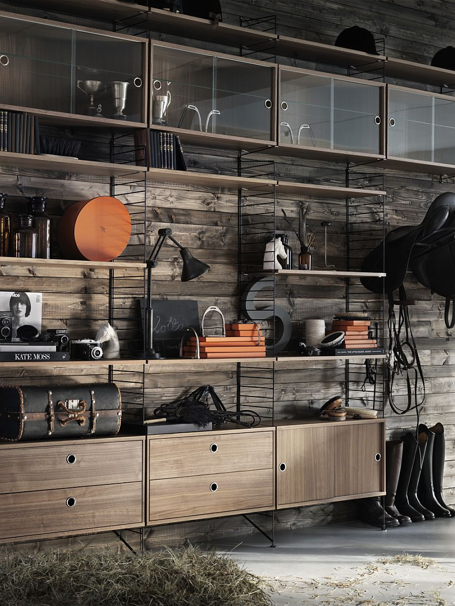 String shelf systemdesigned by Nils Strinning