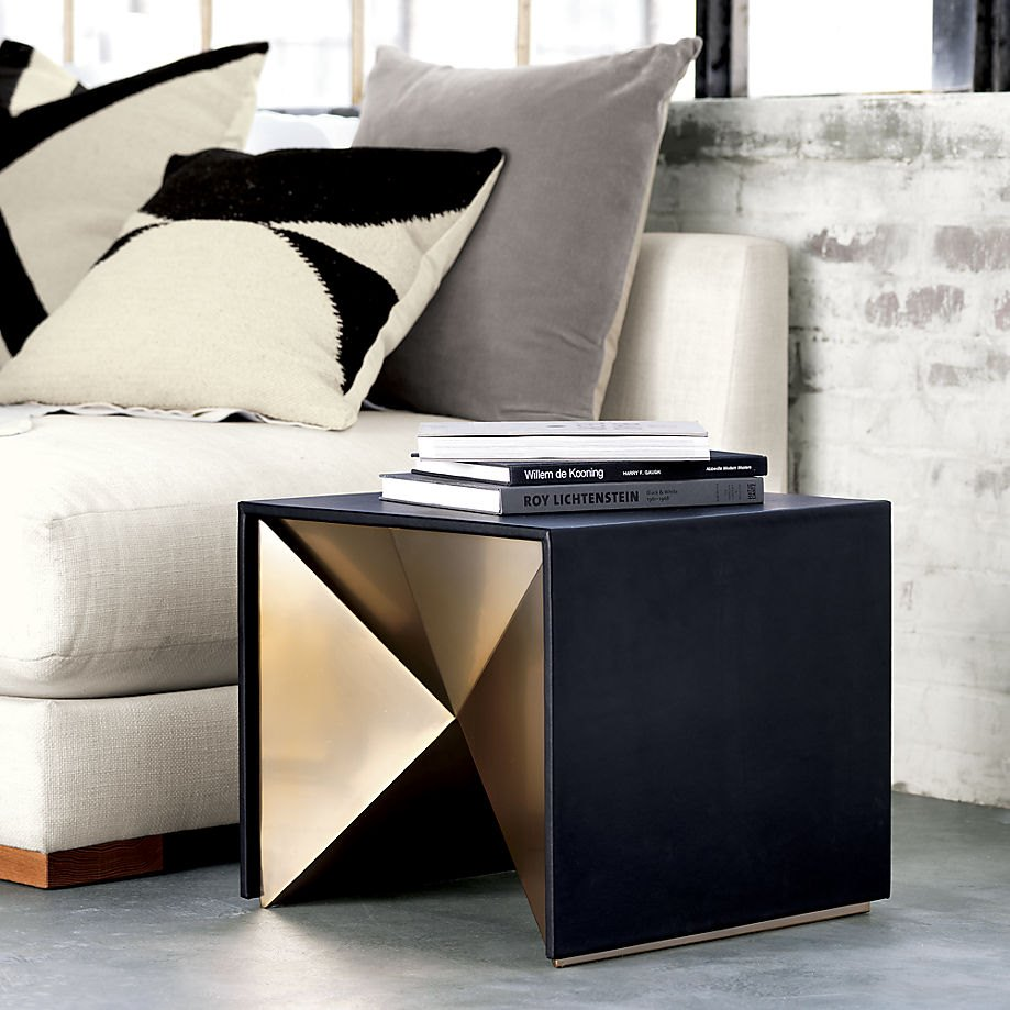 Geometric side table from Kravitz Design and CB2