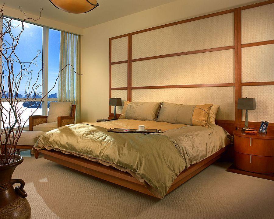 Relaxing modern bedroom with zen-inspired simplicity