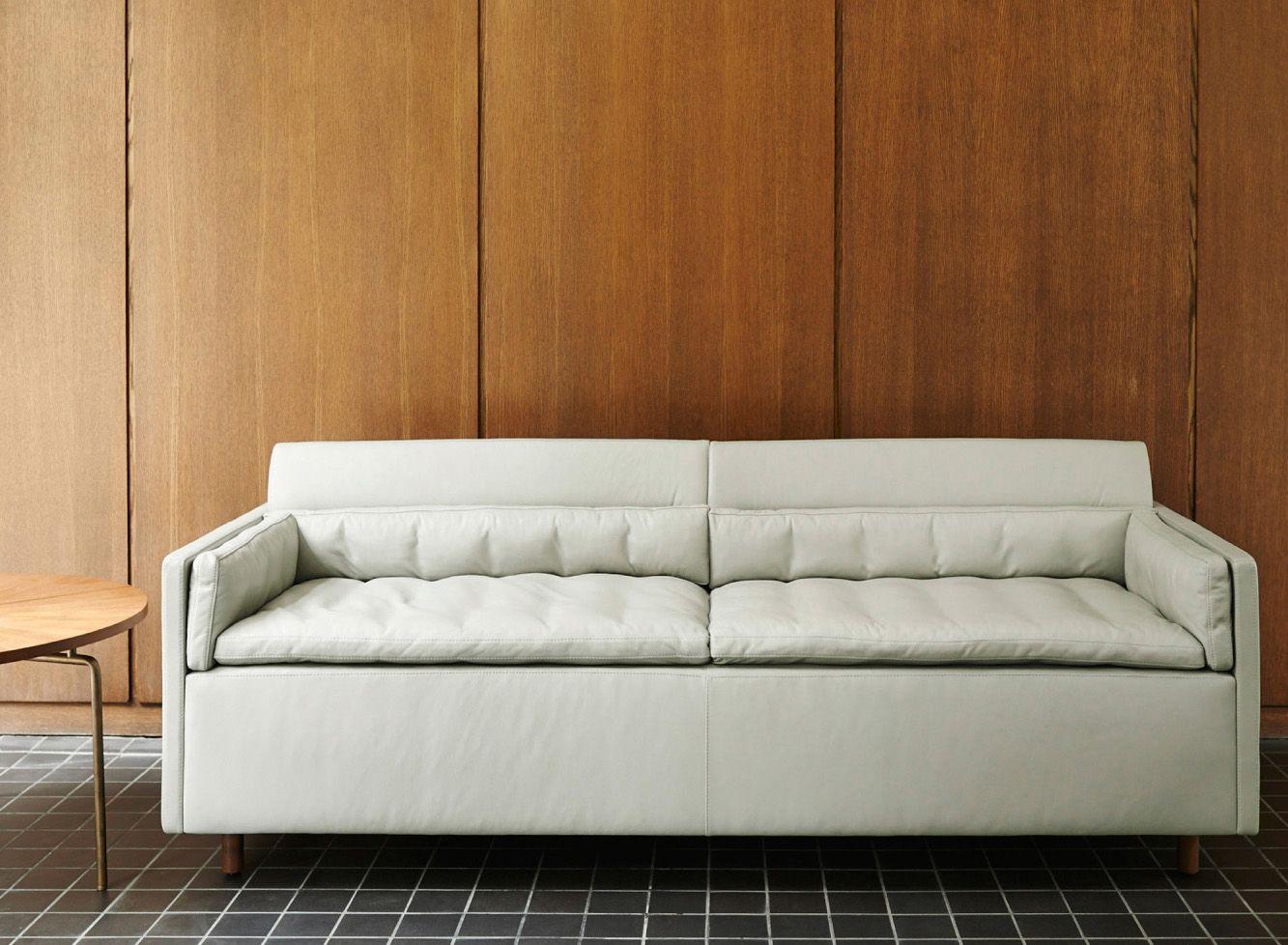 Salon Sofa in grey leather