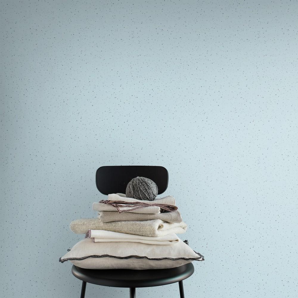 Skal light blue wallpaper Sandberg