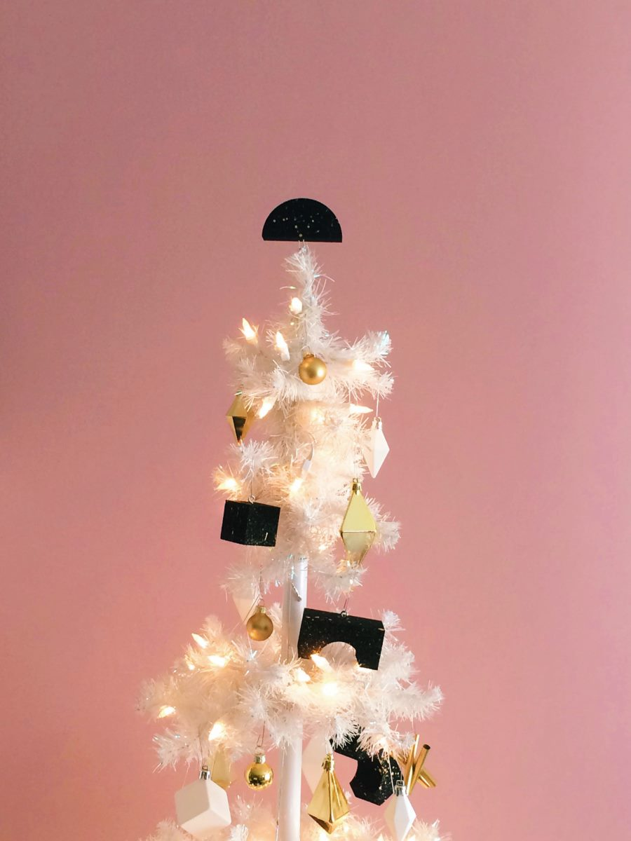 Black, white and gold holiday tree from Happy Mundane
