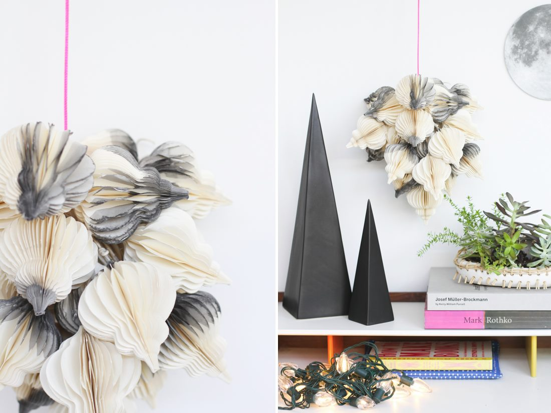 Dip-dyed hanging decor from Paper & Stitch