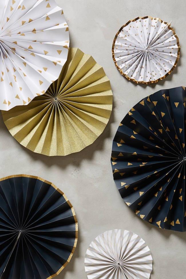 Festive confetti pinwheel decorations