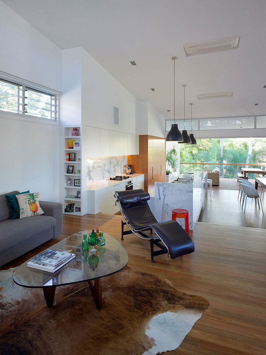 Series of internal steps fashion the smart, family home