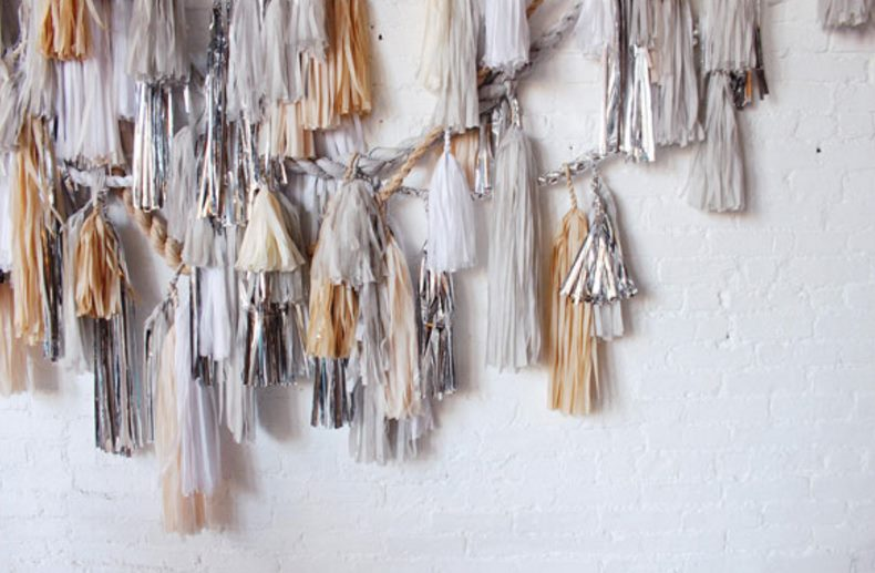 Tassel garland from CONFETTISYSTEM