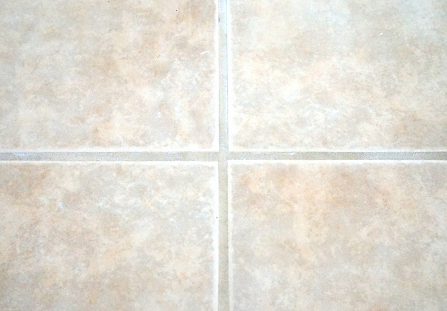 Cleaning grout with baking soda and vinegar works!