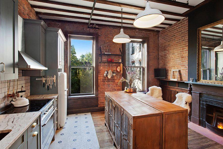 Custom kitchen island conceals ample storage [Design: GooseNest Interior Design]