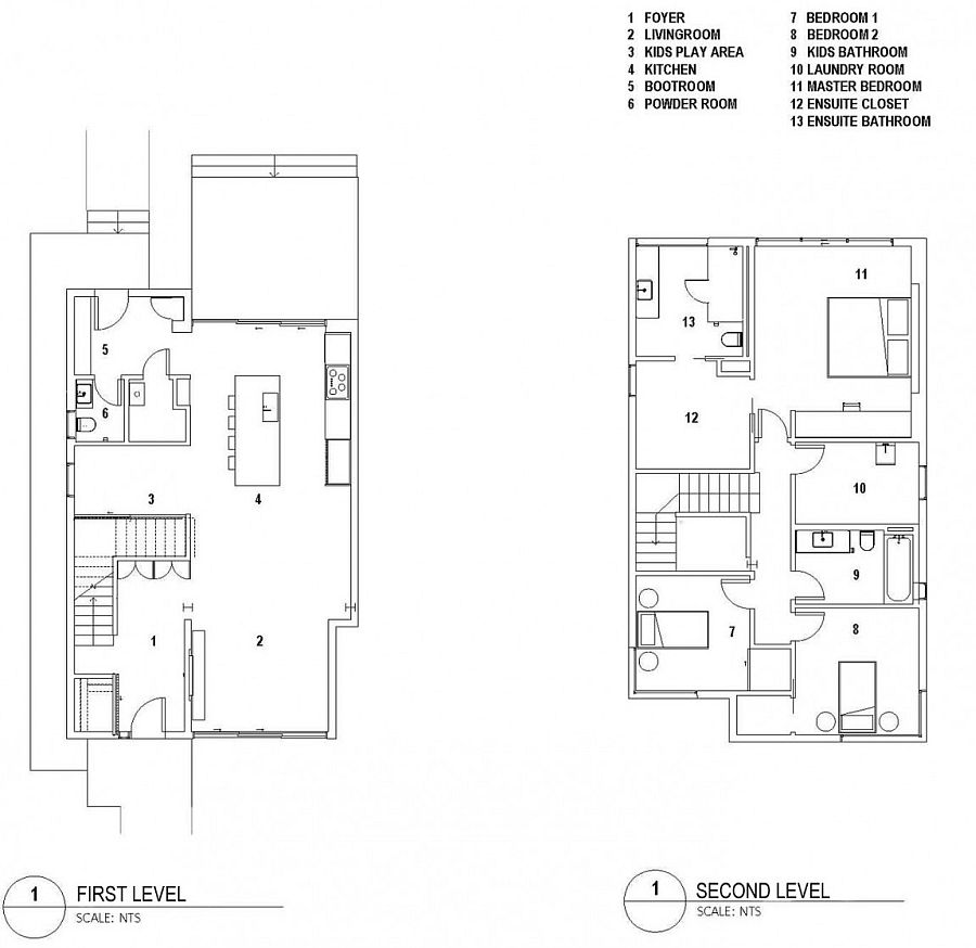 Floor plan of the refined Grade House in East Vancouver