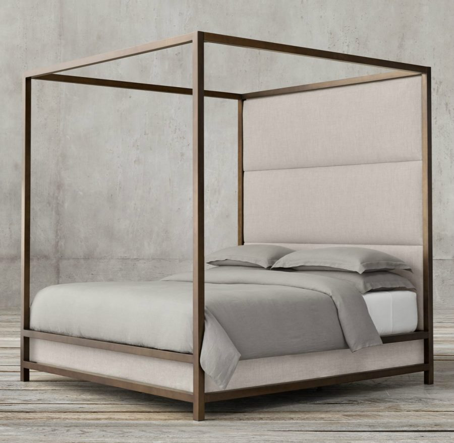 High-panel four-poster bed from Restoration Hardware