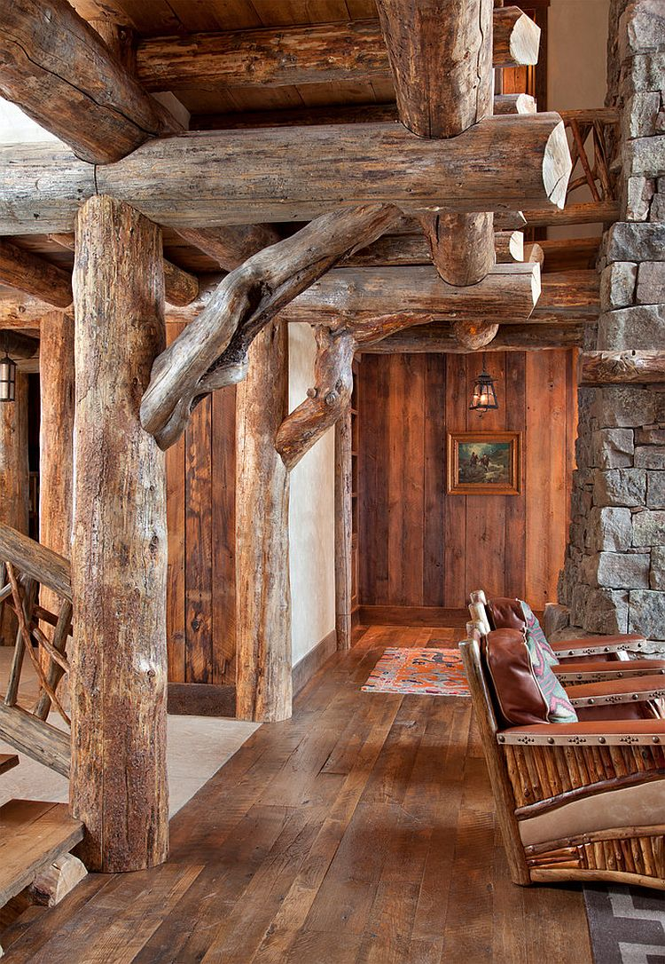Local timber and stone shape the exquisite mountain cabin designed by Lohss Construction