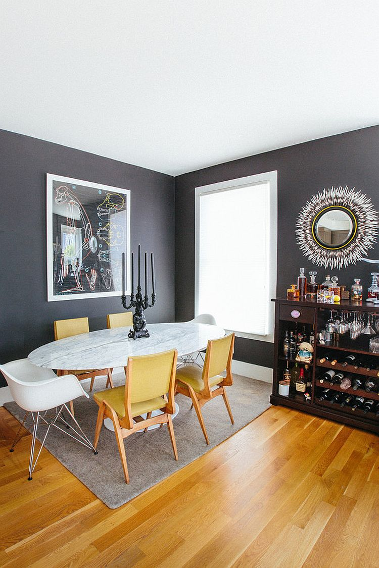 accent chairs for dining room clarity photographs | Trendy Color Duo: 20 Dining Rooms That Serve up Gray and ...