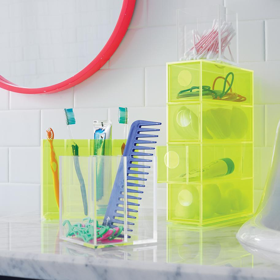 Acrylic display containers from The Land of Nod