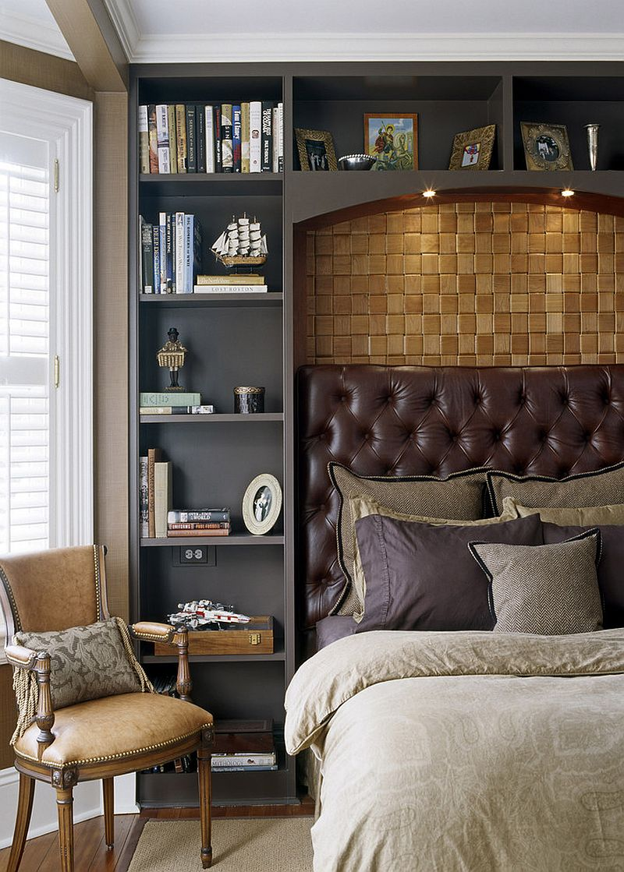 Bedroom combines modern style with Victorian touches [Design: Siemasko + Verbridge]