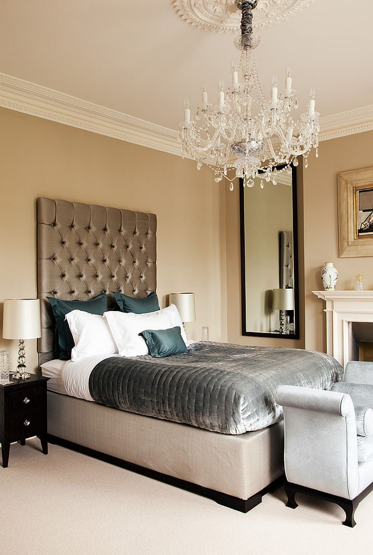 Clarance Chandelier adds traditional panache to the bedroom [From: Paul Craig Photography]