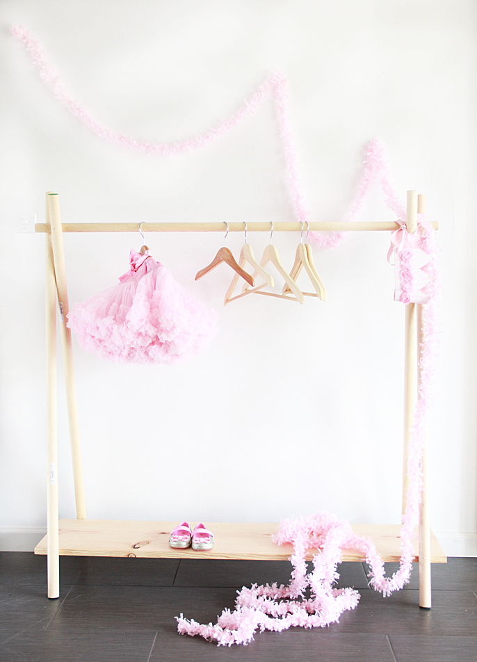 DIY clothing rack from A Bubbly Life