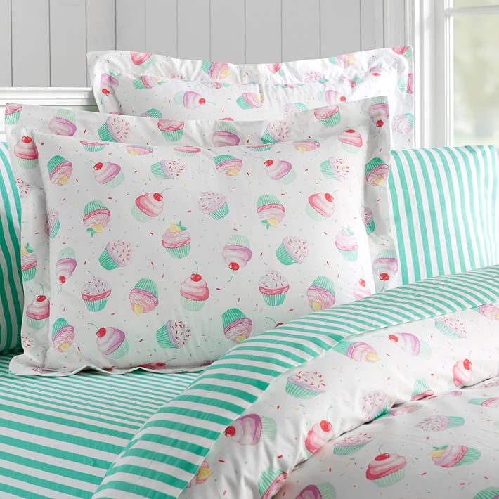 Dessert-themed bedding from PB Teen