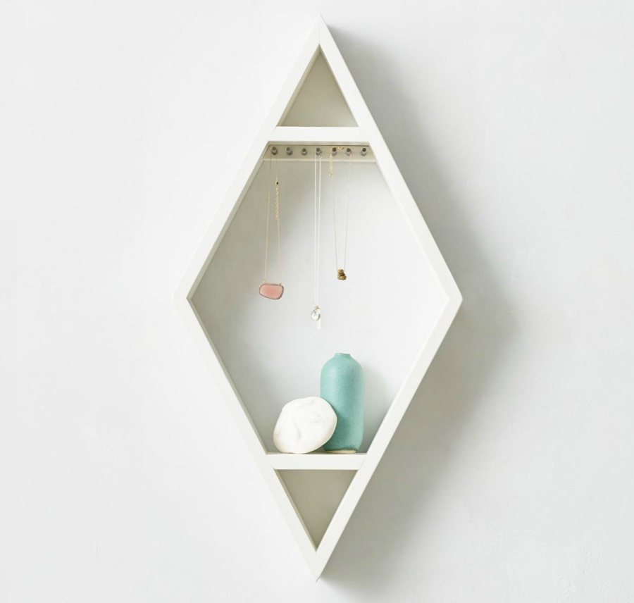 Diamond curio shelf from RH Teen