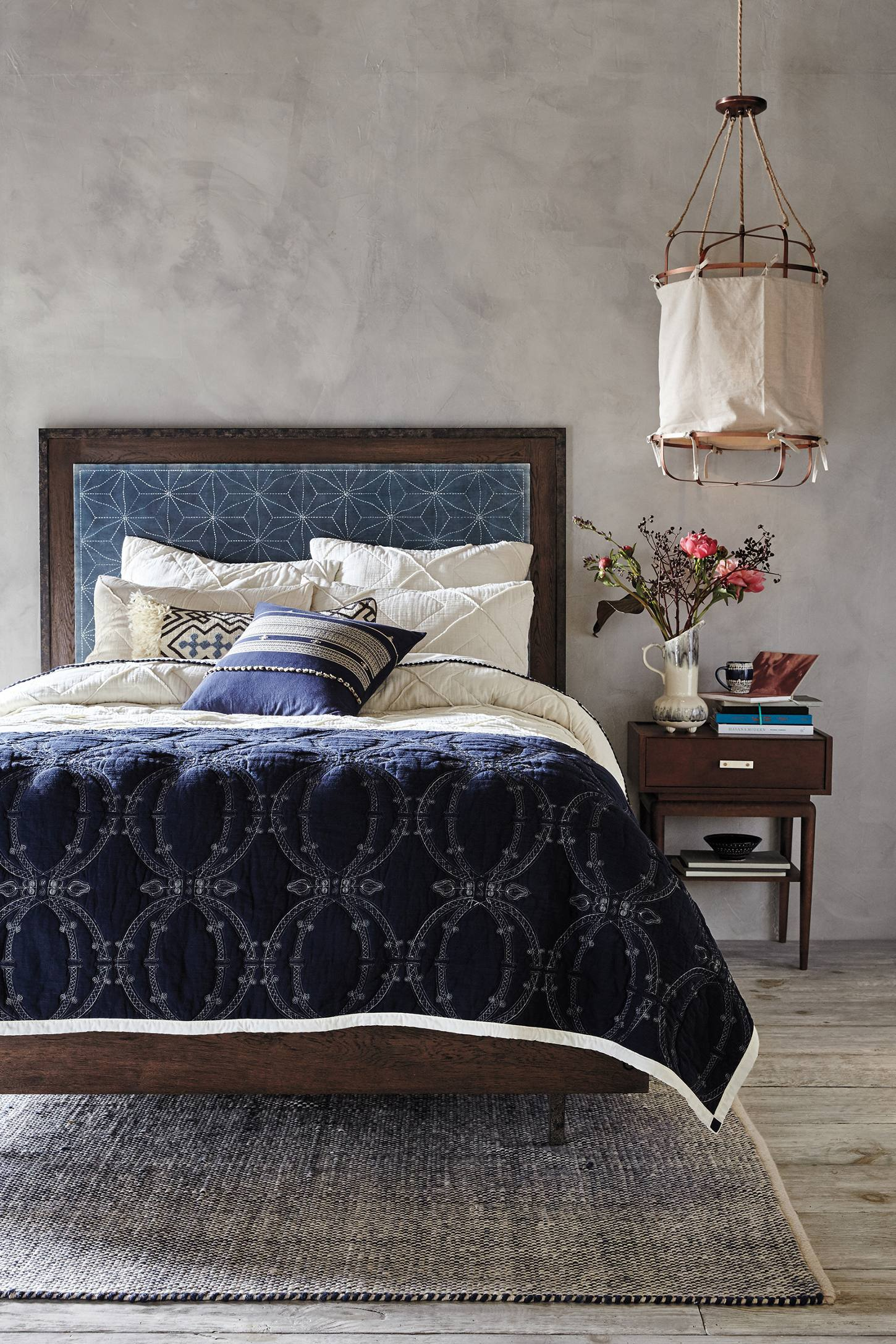 Elegant bedroom from Anthropologie