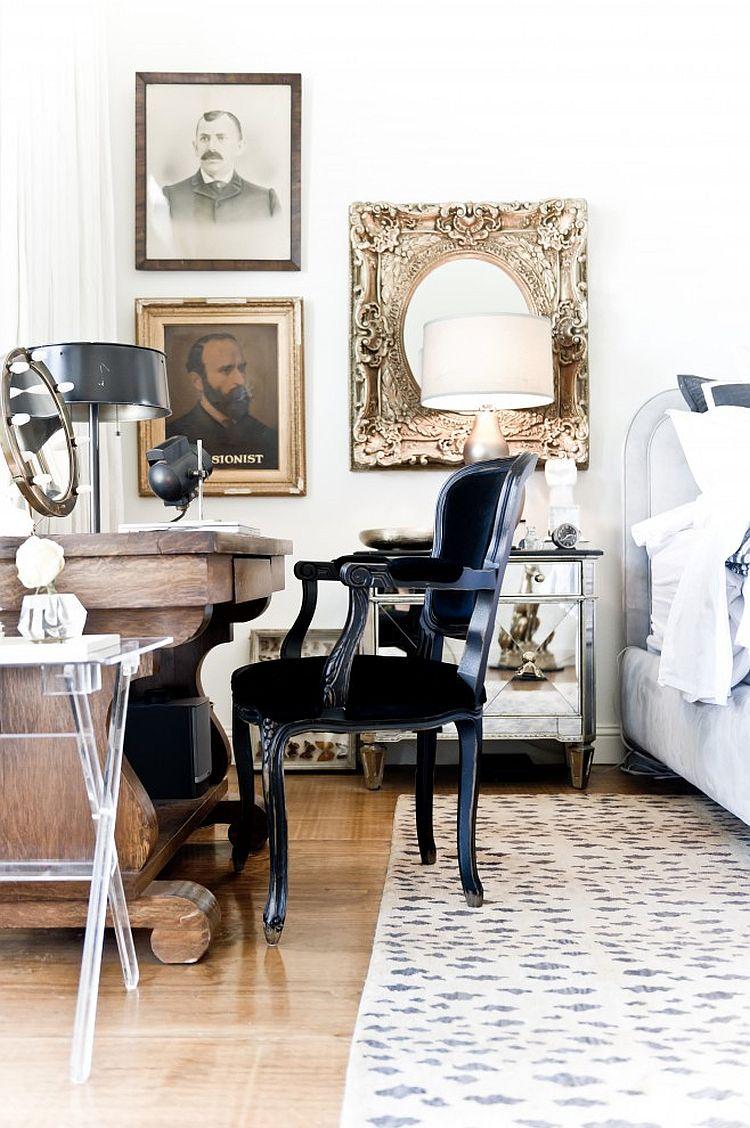 Elegant bedroom workspace with classic charm [Design: Jamie Laubhan-Oliver]