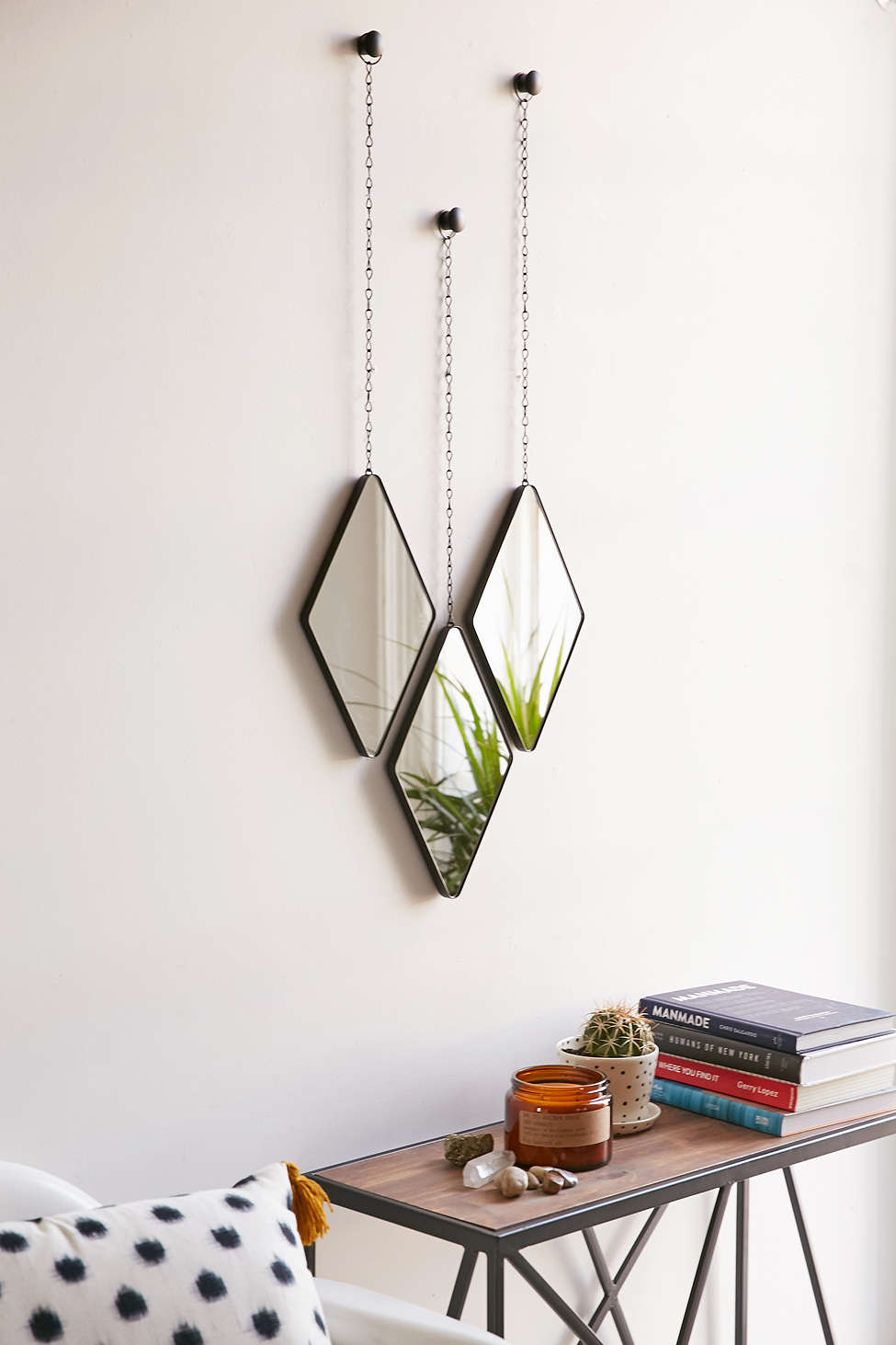 Geo hanging mirror set from Urban Outfitters