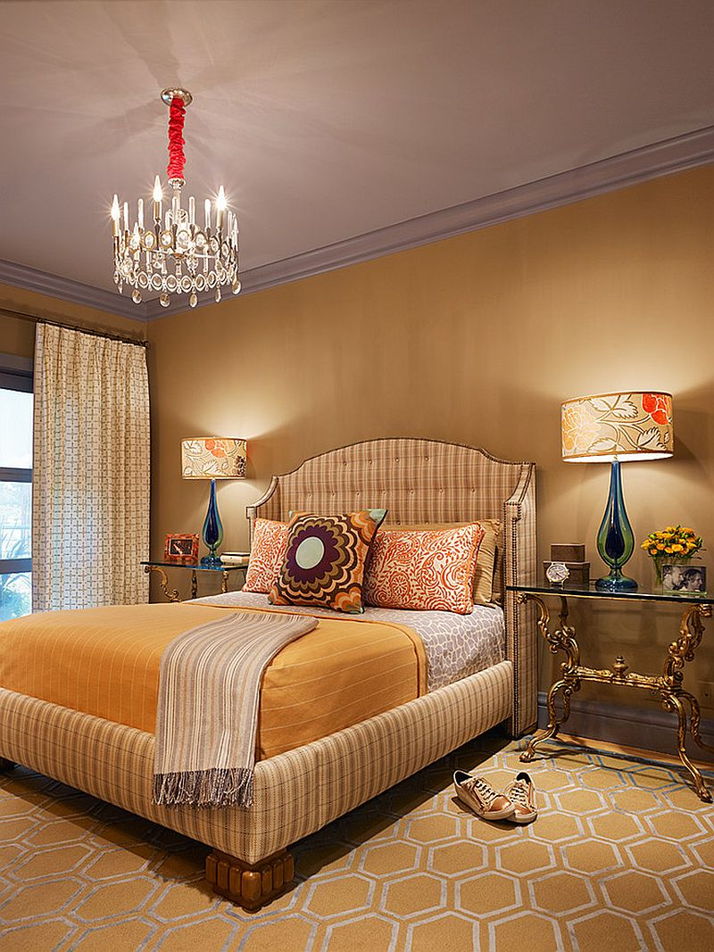 Gorgeous use of color and brilliant lighting inside the bedroom [Design: Jeffers Design Group]