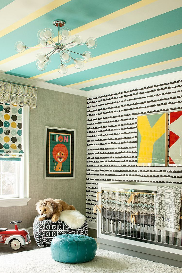 Ingenious and exciting way to add stripes to the nursery
