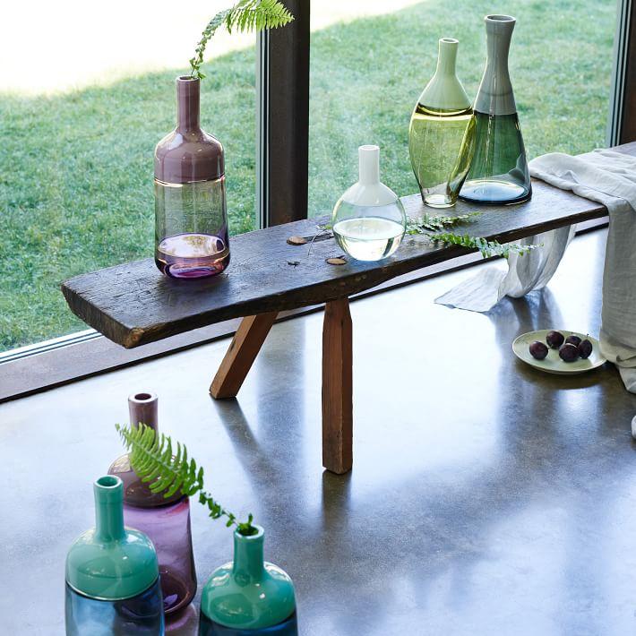 Modern glass vases from West Elm