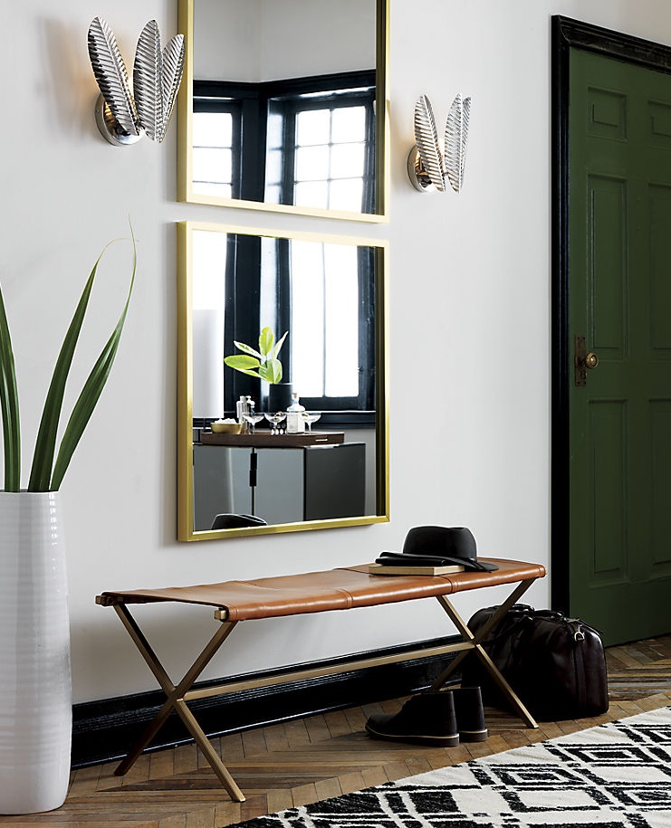 Palm frond wall sconces from CB2
