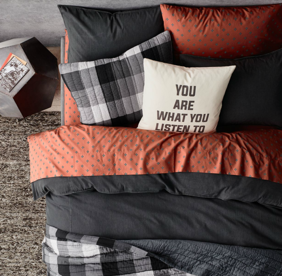 Plus sign bedding from RH Teen