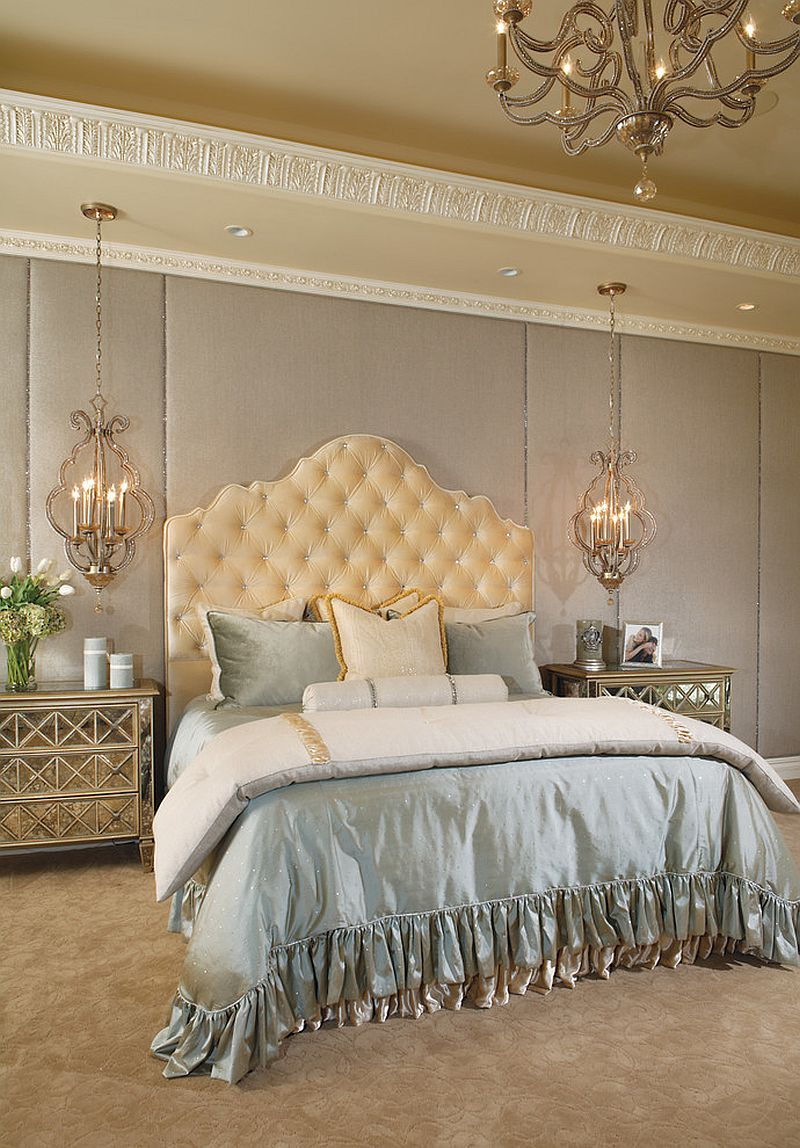 Plush bed is the showstopper in this lovely bedroom [Design: Eagle Luxury Properties]