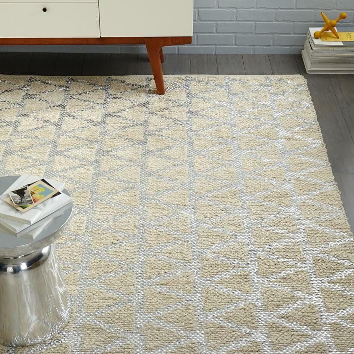 Shimmering jute rug from West Elm