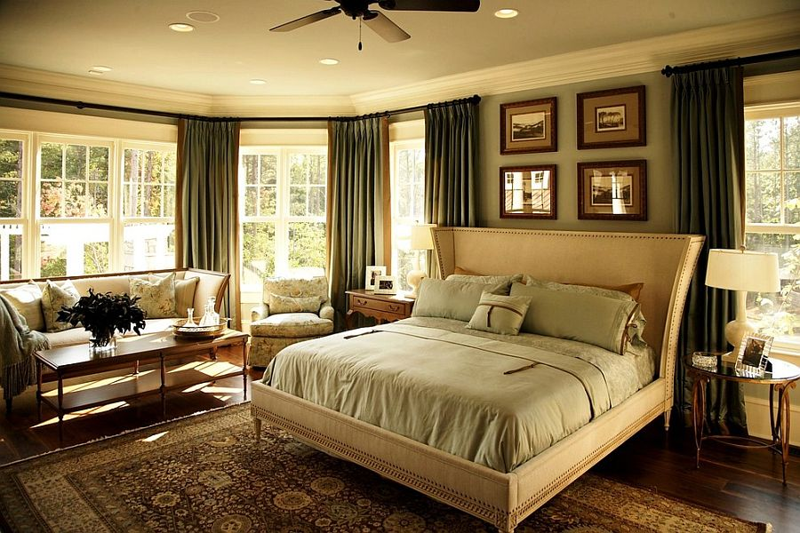 Style and finish of the couch matches that of the unique bed [From: VanBrouck & Associates / Andrea Robinson]