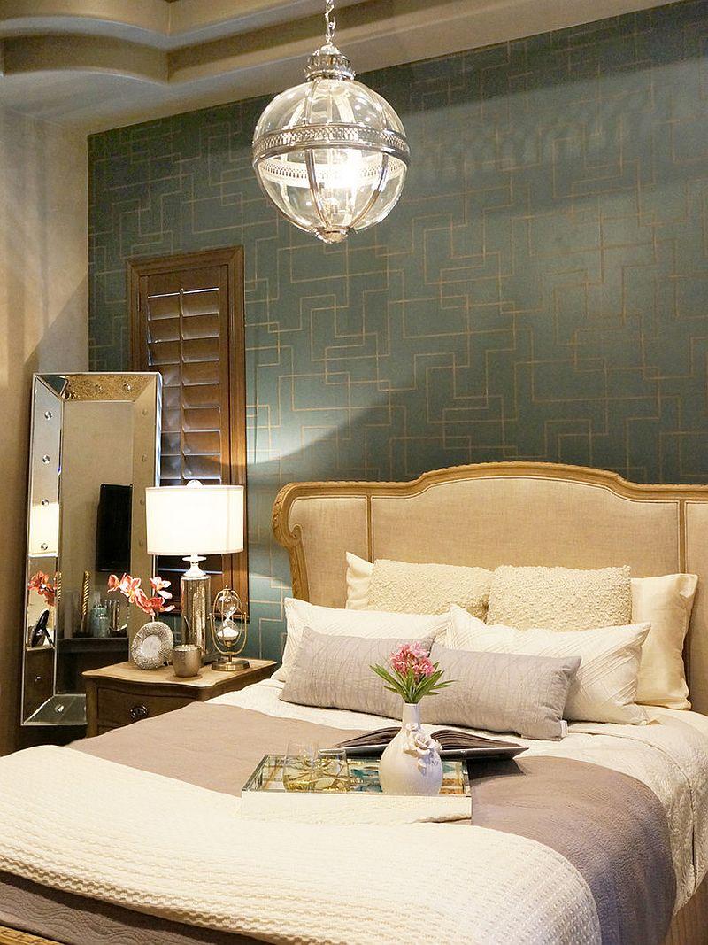 Stylish Victorian bedroom with decor from Restoration Hardware [Design: Lisa Escobar Design]