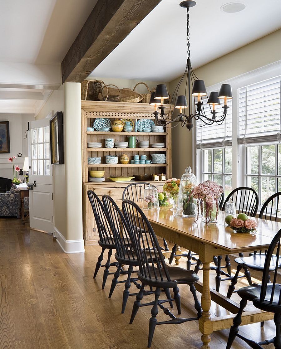 Antique hutch in the dining room helps store your precious china [Design: Archer & Buchanan Architecture]