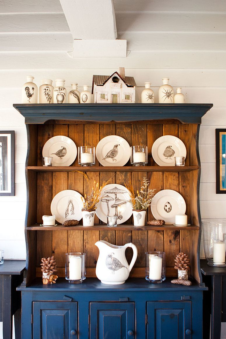 Beautiful dining room hutch combines display and storage spaces effortlessly [From: Tess Fine]