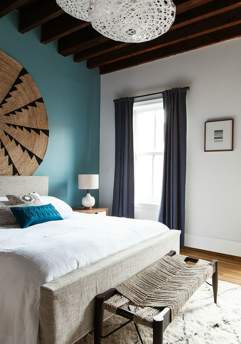 Decor from CB2 and IKEA shape refined loft apartment in Jersey City by The New Design Project