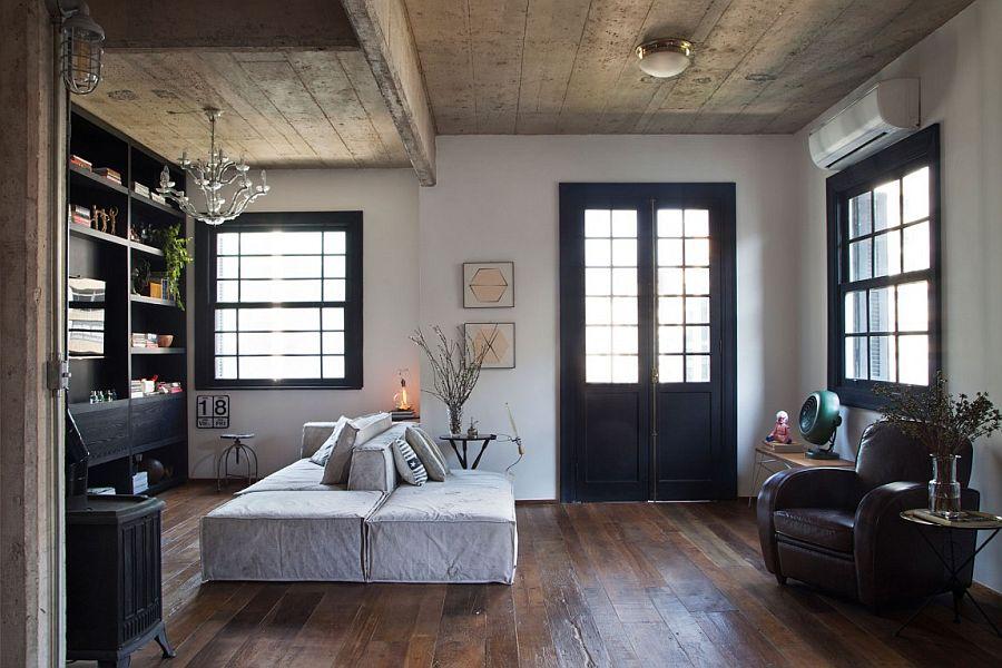 Modern industrial living room or Apartamento Jardins in São Paulo
