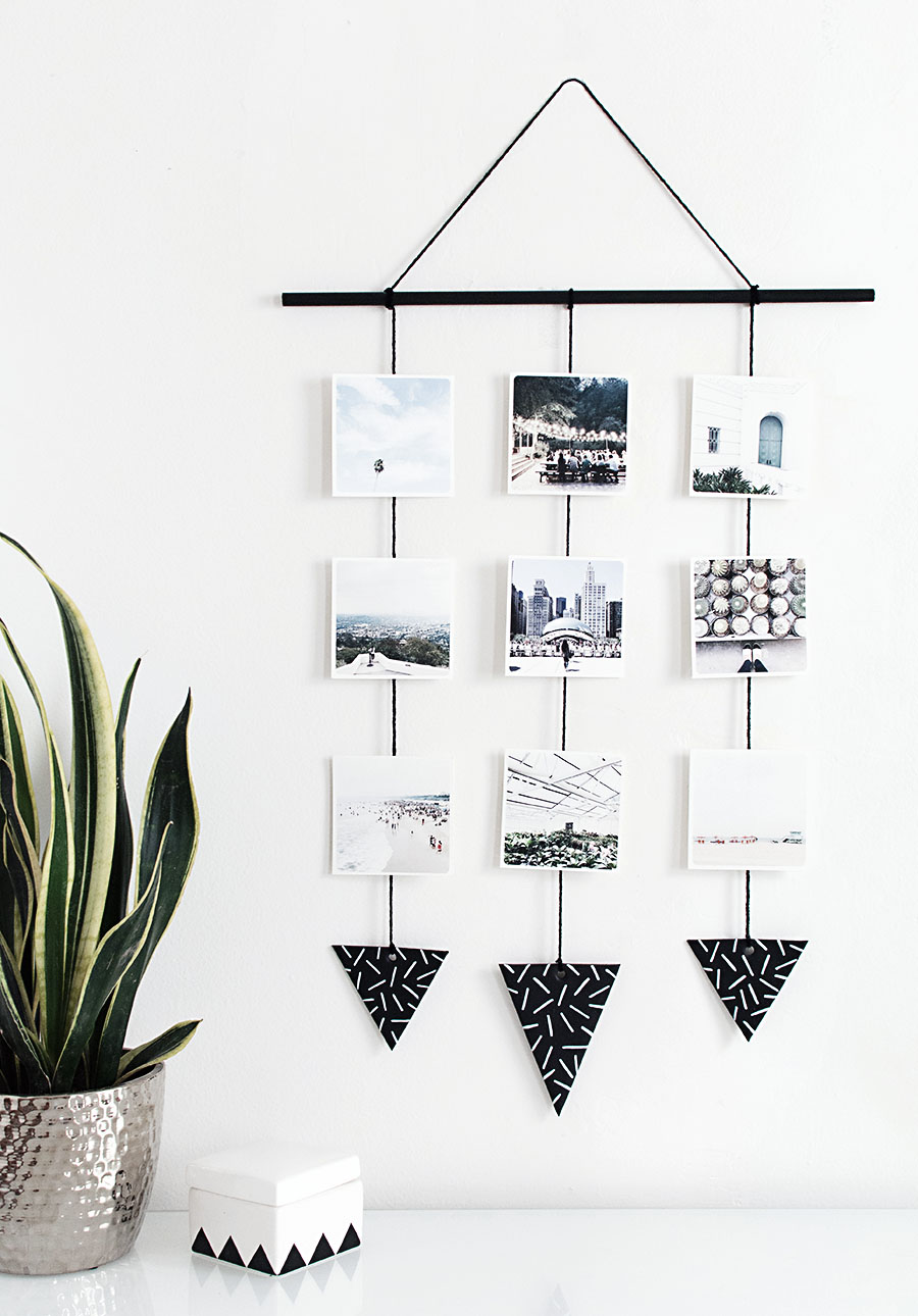 Photo wall hanging from Homey Oh My!
