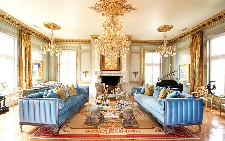 A touch of gold never fails in the Victorian living room [Design: Verona Prive Maison]