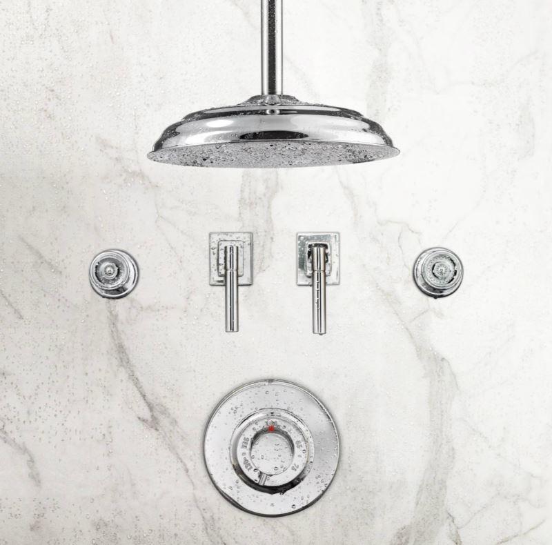 Ceiling-mount shower head from RH modern