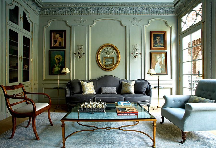 Delightful Victorian living room of New York home [From: Tim Hine / Douglas VanderHorn Architects]