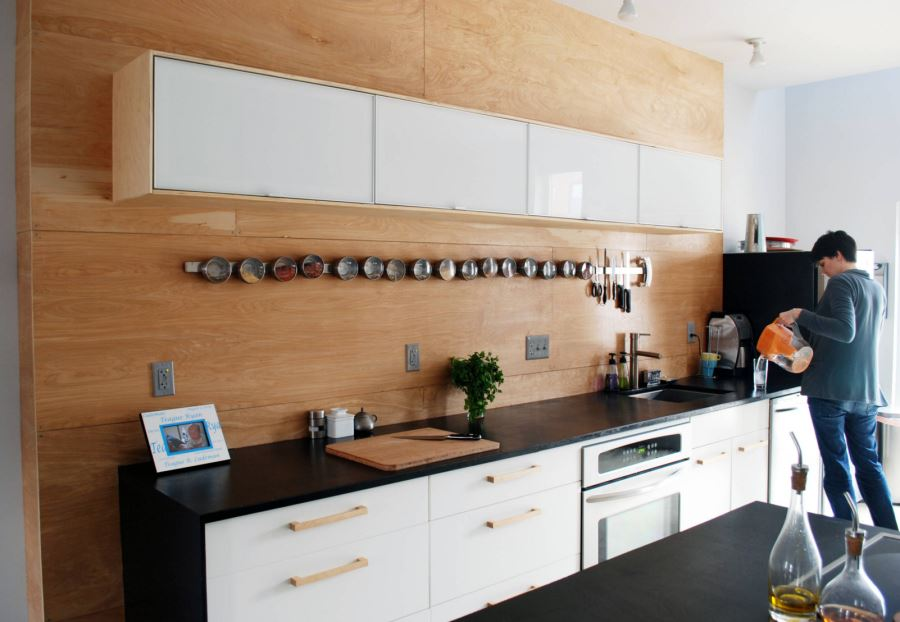 Foodie kitchen with accessible ingredients
