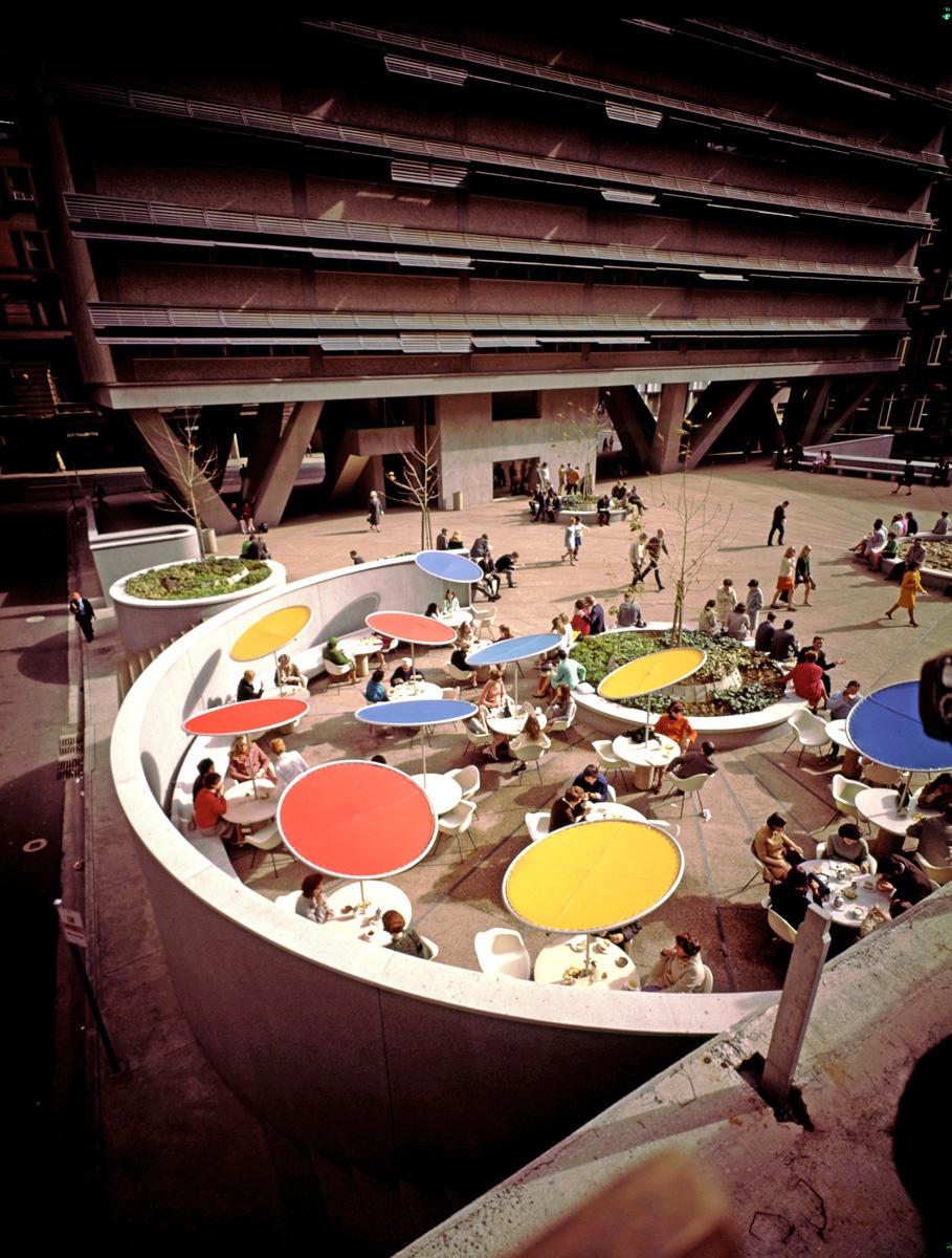 Public Plaza and restaurants