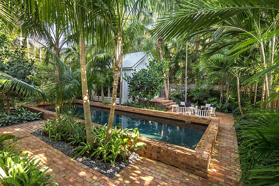 Space is not a constraint for a tranquil tropical poolscape [Design: Craig Reynolds Landscape Architecture]