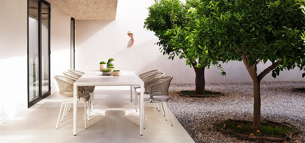 Sturdy and water-resistant outdoor chairs by Tribu